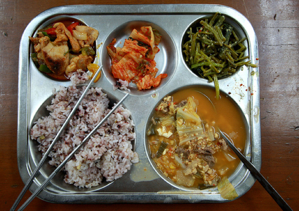 korea school lunch bean stew