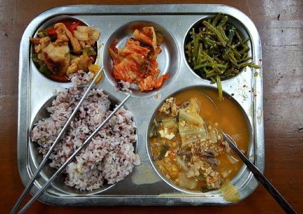 korea school lunch bean stew