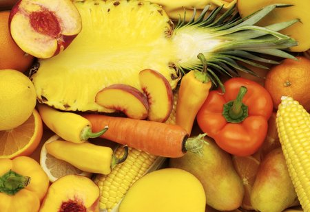 yellow and orange fruits and vegetables
