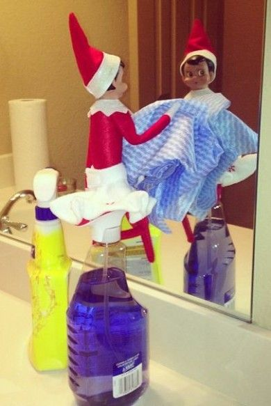 Elf cleaning up