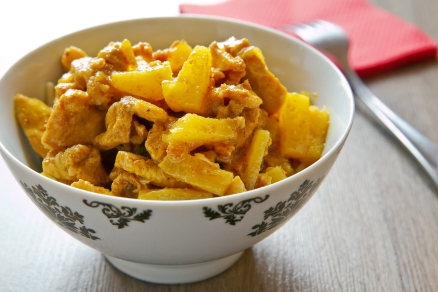 Chicken And Pineapple With Curry